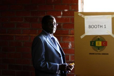 Zimbabwe president Robert Mugabe, 89, has claimed election victory despite claims of fraud. (Credit: Reuters)