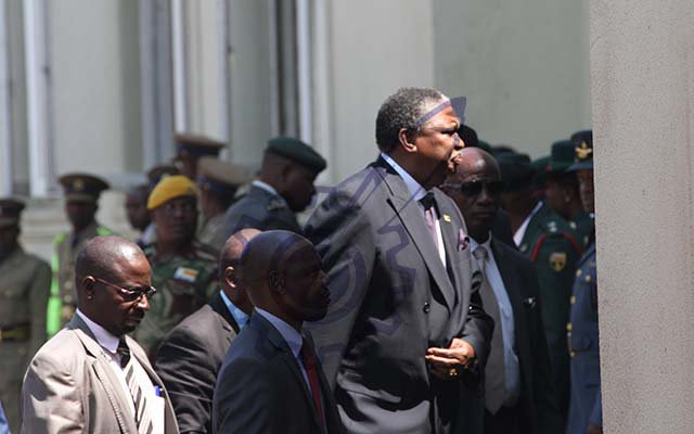 Vice President Mphoko arrives at the opening of the Fifth Session of the Eighth Parliament