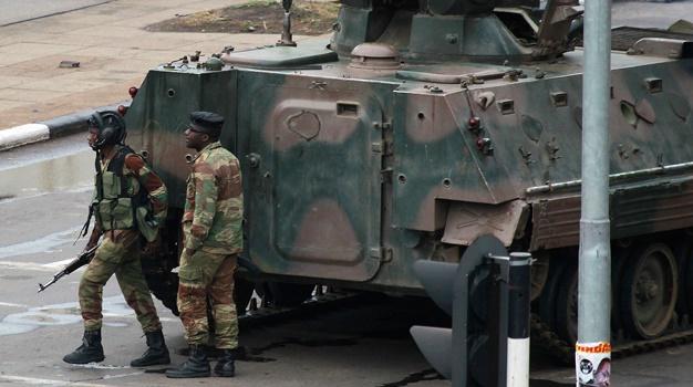 Mnangagwa Soldiers Beat Up Innocent Civilians