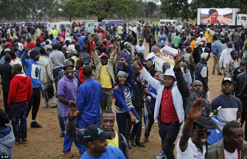 There were fears the opposition rally would degenerate into violence, as happened in 2013 when crowds went on the rampage in Harare after an opposition rally