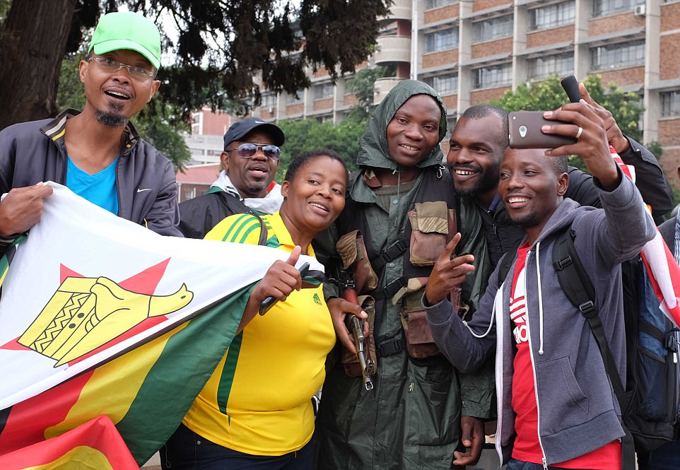 There was a festive atmosphere on the streets of Harare where people seemed overjoyed at the prospect of Mugabe finally being forced out of power