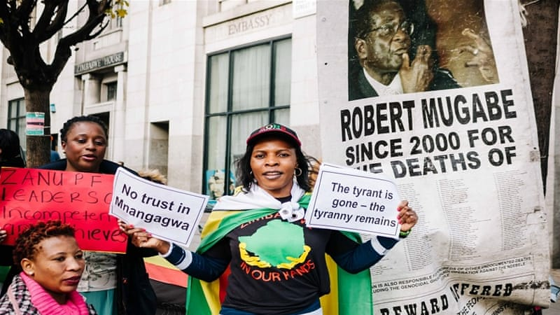The demonstration has been running every Saturday since October 2002, according to protesters [Zimbabwe Vigil Coalition/Al Jazeera]