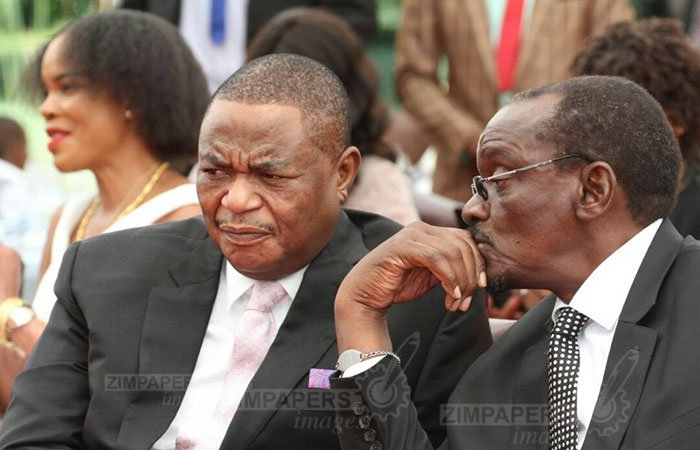 Vice Presidents General Constantino Chiwenga (Rtd) (L) and Cde Kembo Mohadi
