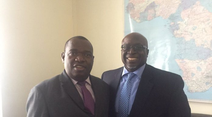 PICTURE: Gen. Moyo Holds Diplomatic Brief With US Ambassador