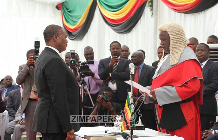 Vice President Constantino Chiwenga takes his oath of office
