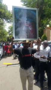 Brave Man In Solo Protest Against Mnangagwa