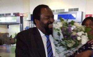PICTURES MUGABE GONE: Exiled Businessman James Makamba Jets Into Harare
