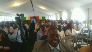 BREAKING NEWS IN PICTURES-Wicknell Chivayo Spotted Inside Mnangagwa's Meeting Place