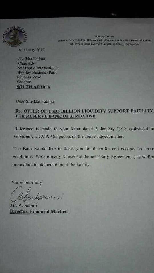 LATEST: RBZ dismisses documents as fake
