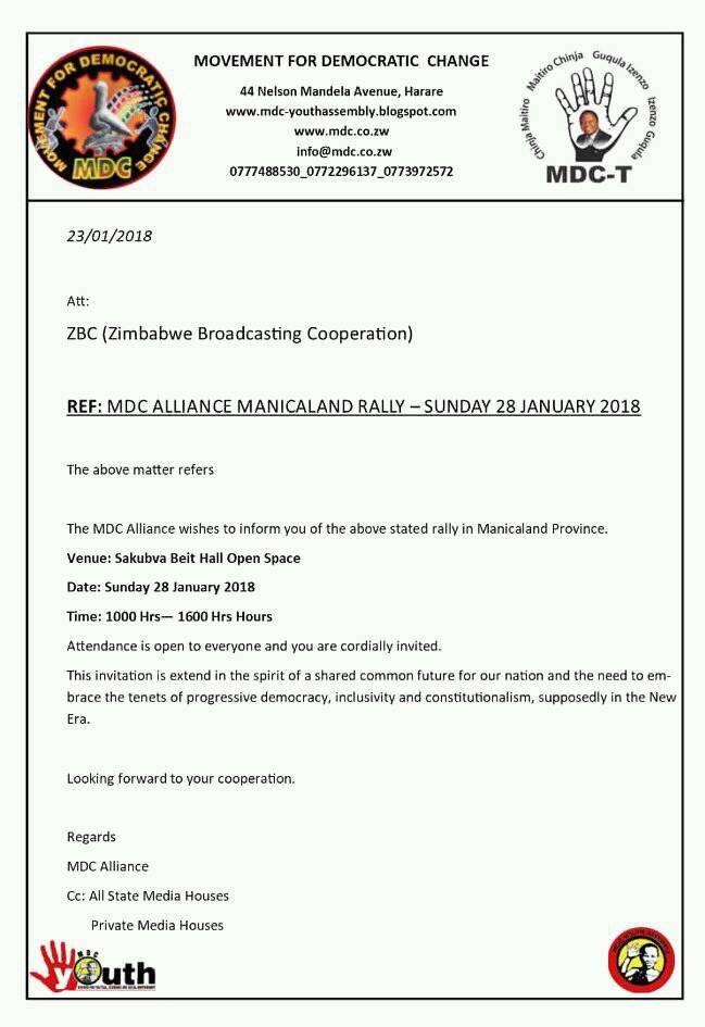 ZBC Turns Down MDC T Invitation