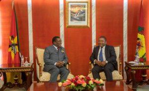 Nyusi and Mnangagwa hold talks in Maputo