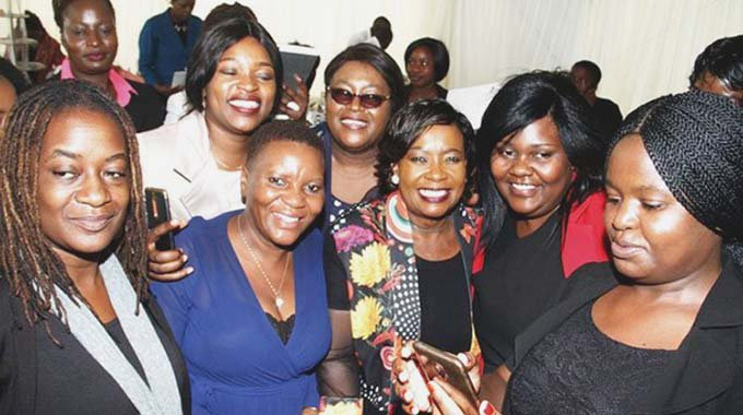 First Lady Auxillia Mnangagwa at a high tea breakfast meeting with female journalists from various media houses at State House in Harare on Monday