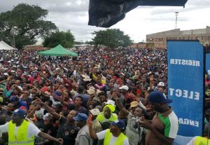 Hundreds register to vote at a National Peace Concert in Bulawayo