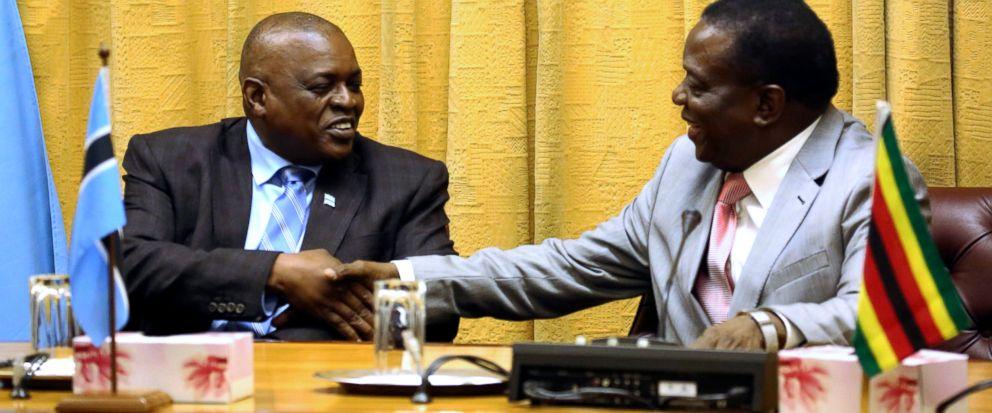 New presidents of Zimbabwe, Botswana meet in Harare