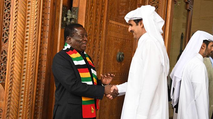 President meets Qatari Emir