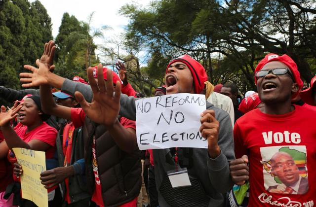 Zimbabwe's Opposition Marches in Capital, Seeking Fair Vote