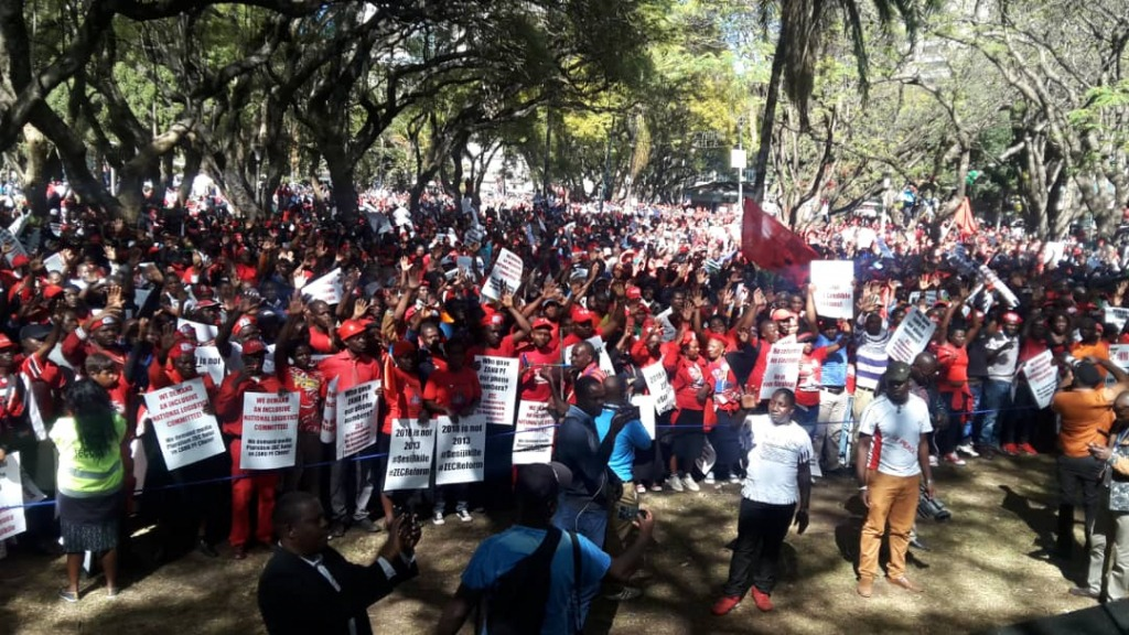 In pictures: MDC Alliance demo