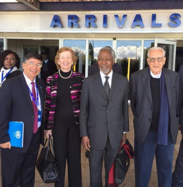 Kofi Annan jets in