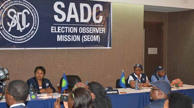 JUST IN: Elections consistent with SADC Guidelines