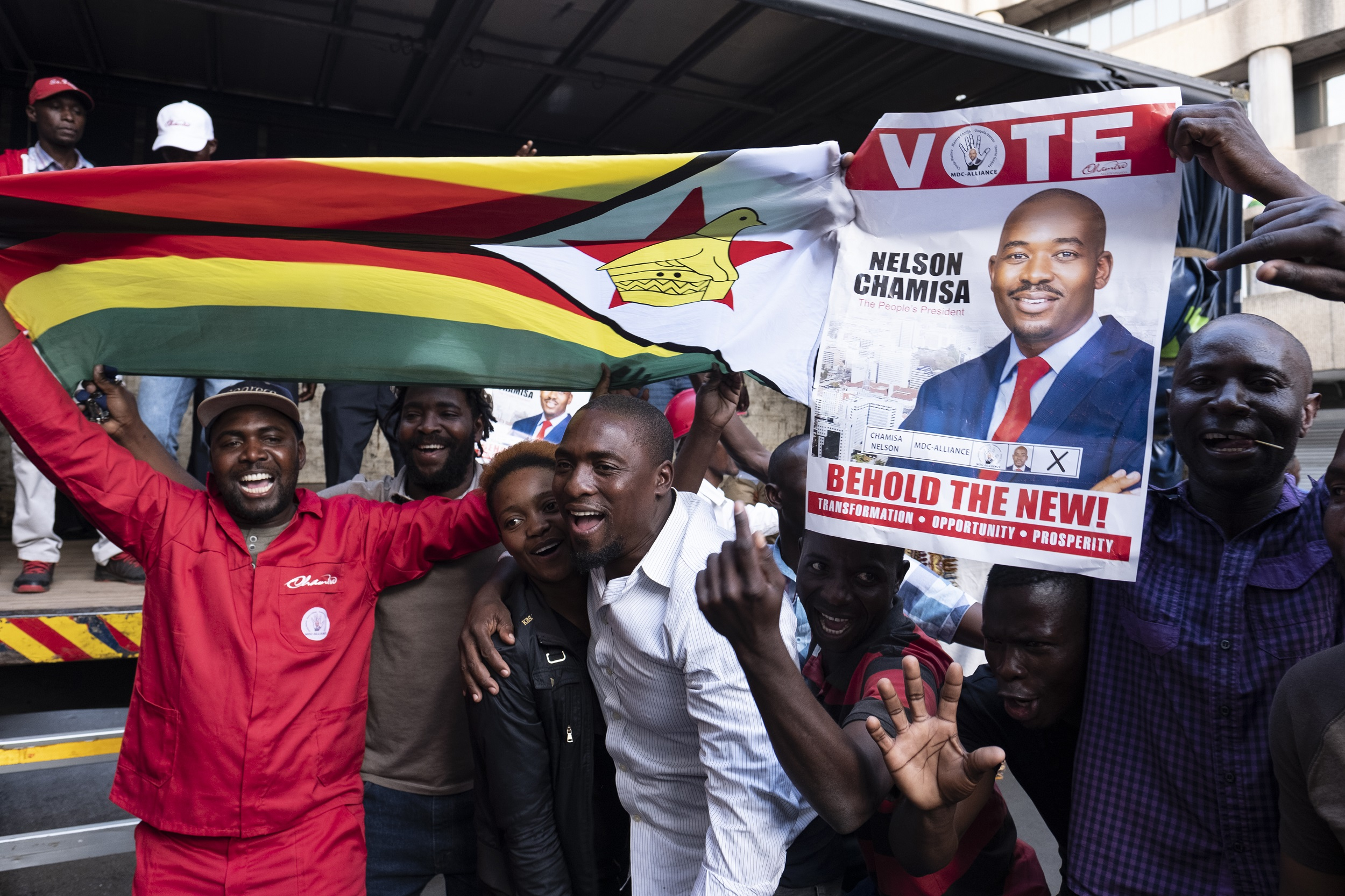 File:Zimbabwe's MDC opposition party launched a legal challenge to President Emmerson Mnangagwa's election victory.