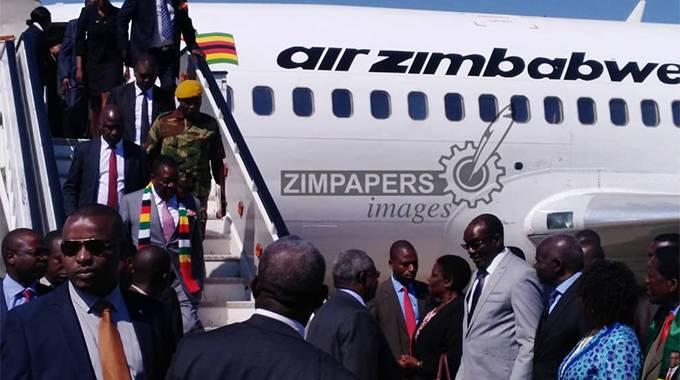 JUST IN: President arrives in Bulawayo