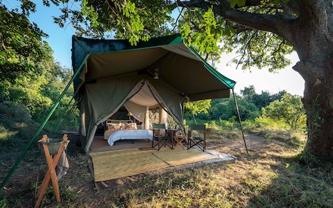 The camp at Mana Pools