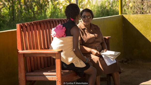 two people on friendship bench (Credit: Cynthia R Matonhodze)