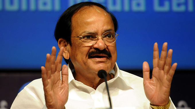 Indian Vice President Naidu jets in
