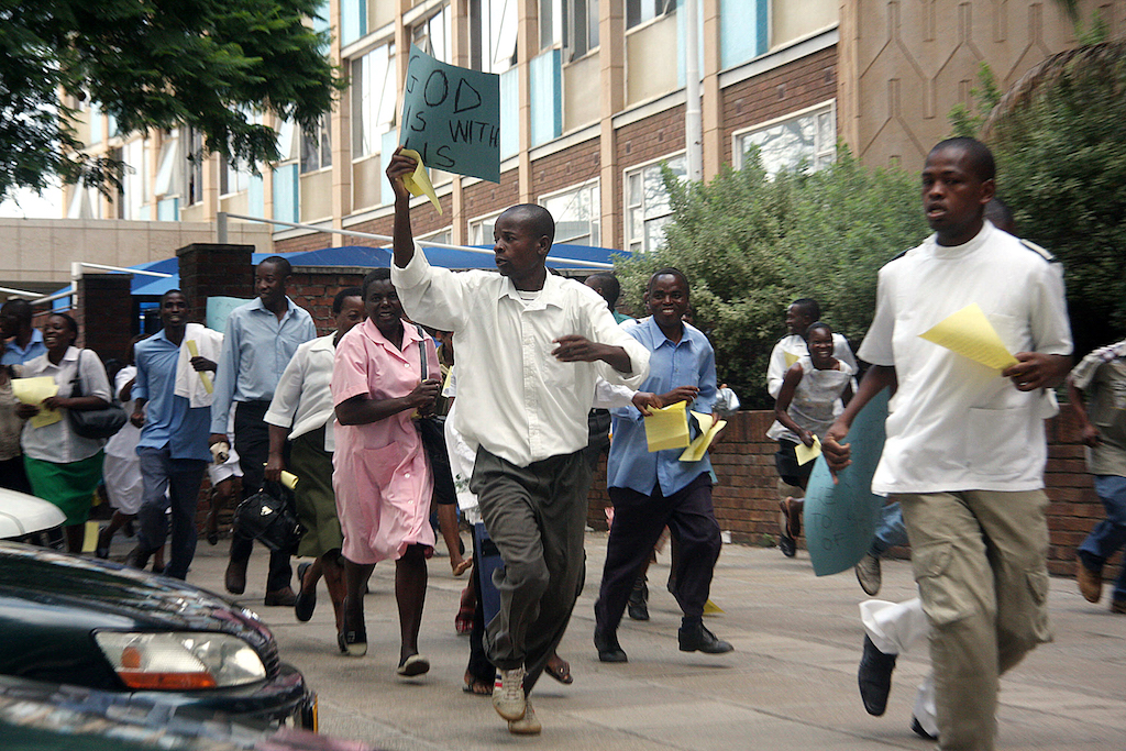 The Zimbabwe Hospitals Doctors Association says the strike will continue until all their grievances are met.