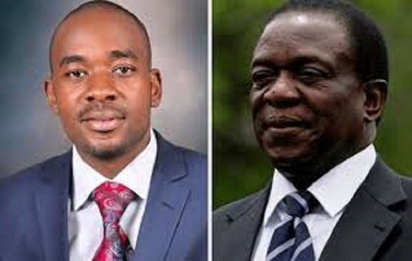 Mr Chamisa and President Mnangagwa