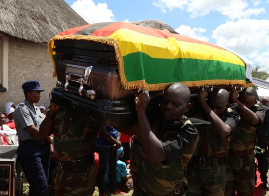 "Celebrated Zimbabwean musician Oliver ""Tuku"" Mtukudzi was buried on Sunday amid pomp and fanfare in his rural hometown Madziwa, about 150km north of Harare. Photo: ANA"