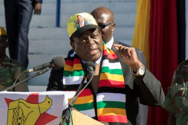 Zimbabwean President Emmerson Mnangagwa. Picture: AFP