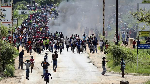 Protesters in Zimbabwe. Image: ANA