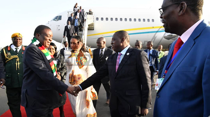 ED arrives in Ethiopia for AU Summit