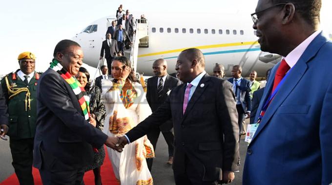 ED arrives in Ethiopia for AU Summit