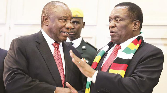 Ramaphosa wants sanctions gone . . . Hails Zim reforms . . . ED touched by solidarity