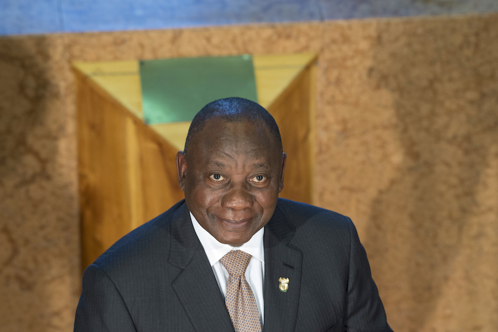 File: President CyrilRamaphosa tomeethis Zimbabwe counterpart President Emmerson Mnangagwa.