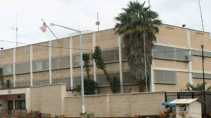 Group camps at US Embassy