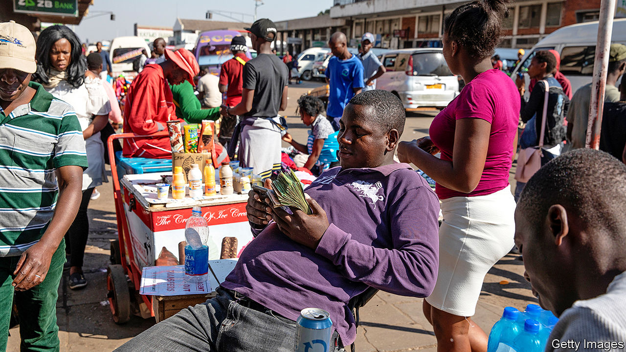 Zimbabwe struggles to keep its fledgling currency alive - A