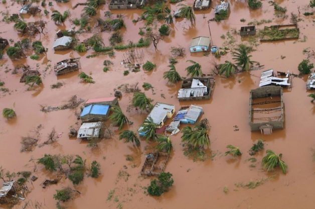 The superstorm turned a swathe of central Mozambique into an inland sea. Picture: AFP / ADRIEN BARBIER