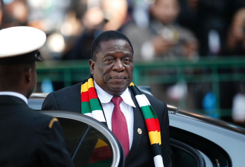 Zimbabwe's President Emmerson Mnangagwa, seen here in May 2019, has vowed to curb protests, dismaying those who hoped he would usher in change