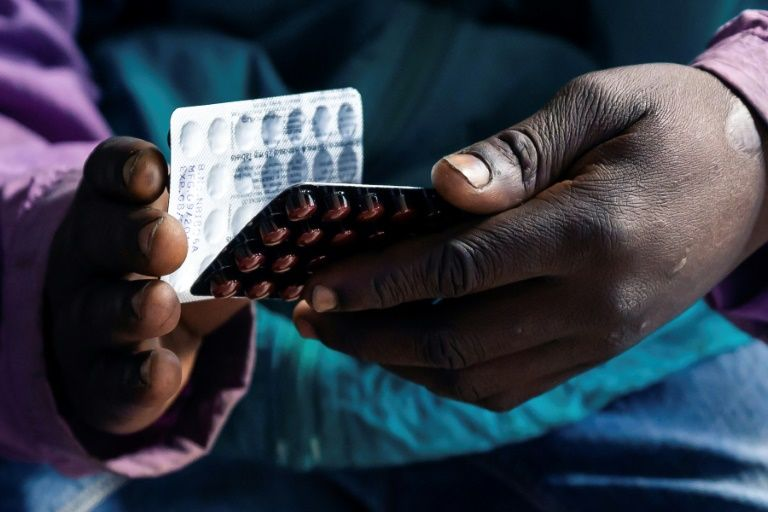 The Rutsanana Polyclinic is one of 10 pilot clinics in Harare offering free treatment for HIV, tuberculosis and diabetes (AFP Photo/Jekesai NJIKIZANA)