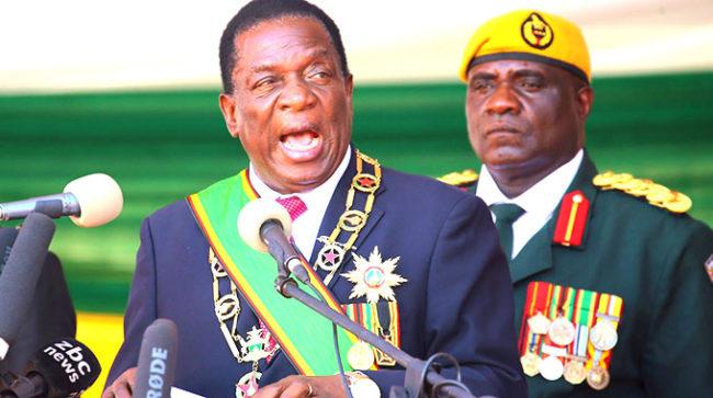 President Mnangagwa says Zimbabwe army will be modernized