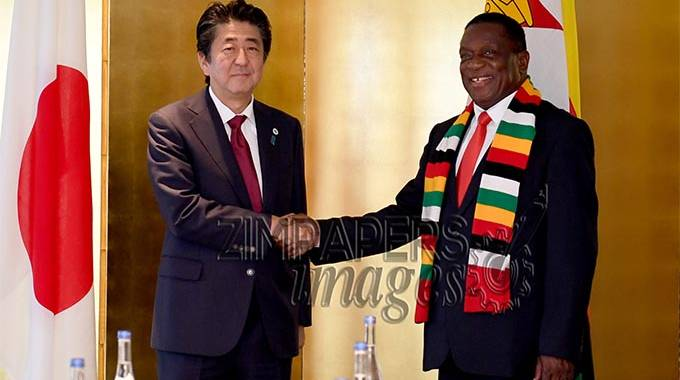 JUST IN: President Mnangagwa in crucial meeting with Japan's PM Abe