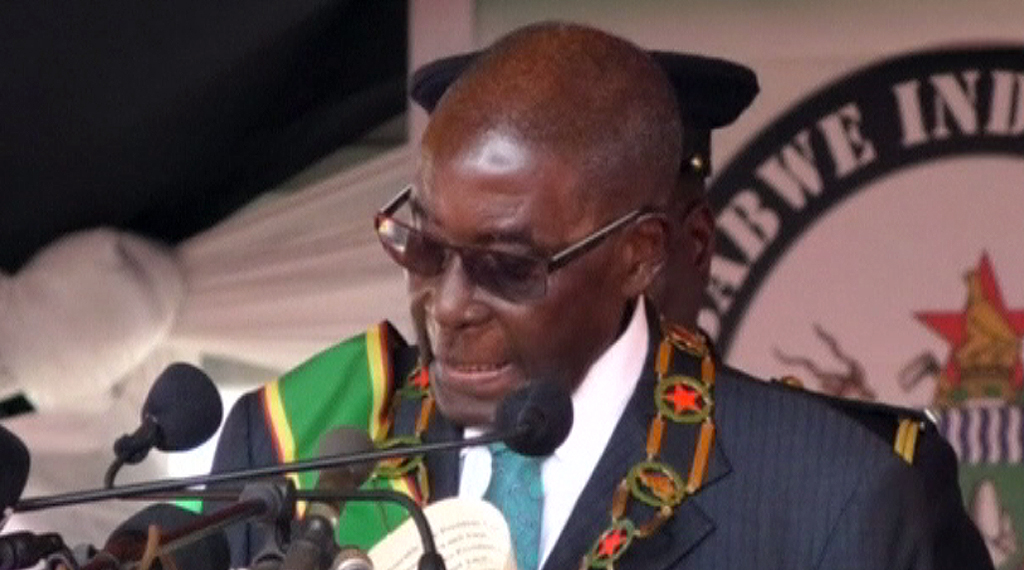 Zimbabwe, 17 April 2017 - Mugabe was speaking to tens of thousands of people at Harare stadium, during commemorations of Zimbabwe's independence from Britain.