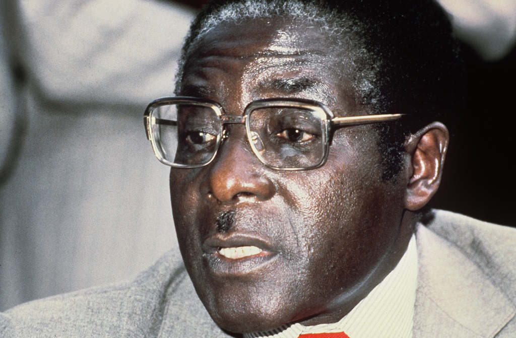 Zimbabwean Prime minister and leader of the ZANU party, Robert Mugabe, is seen, in March 1980, in Harare.