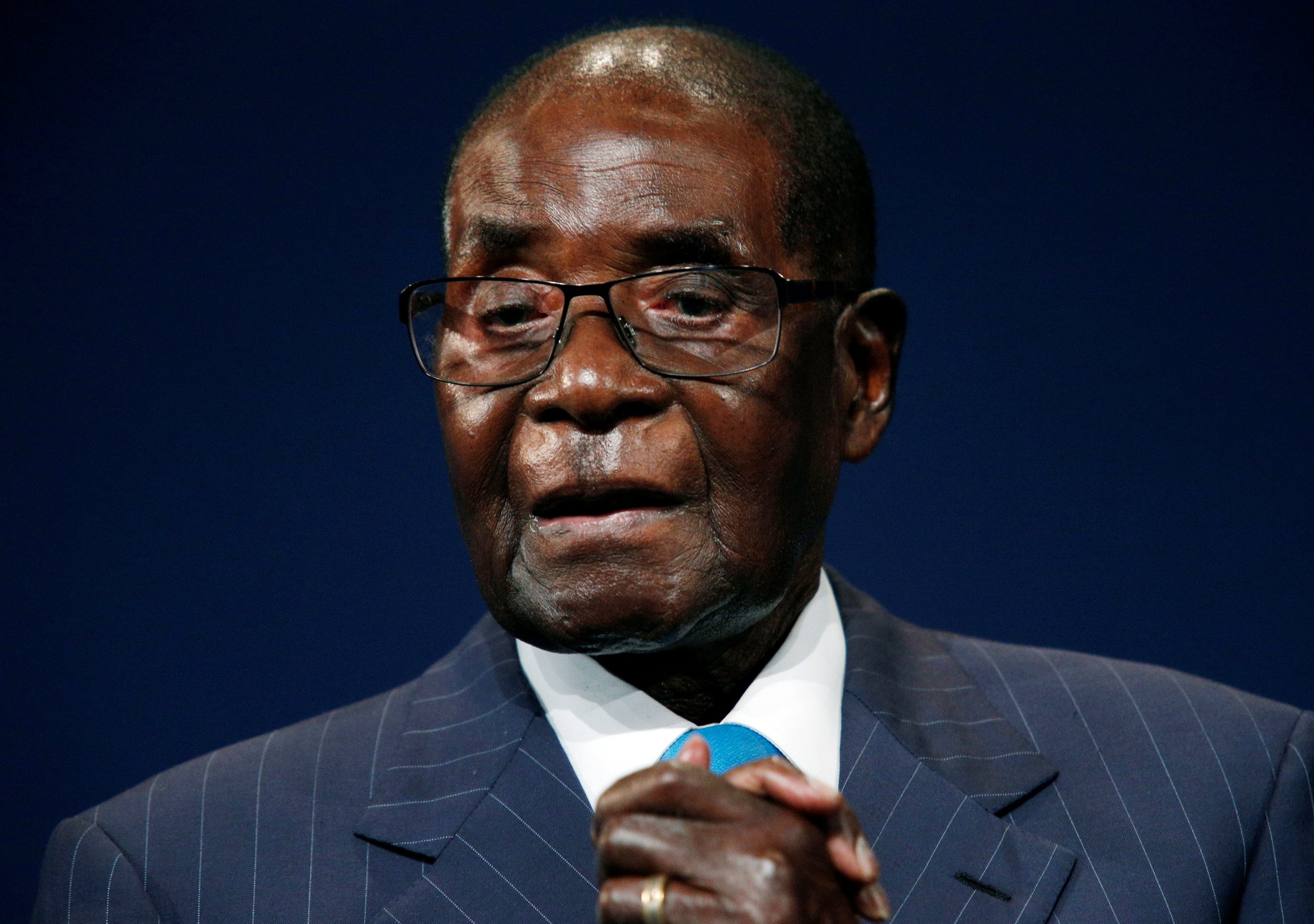File: Robert Mugabe's body is expected in Zimbabwe soon.