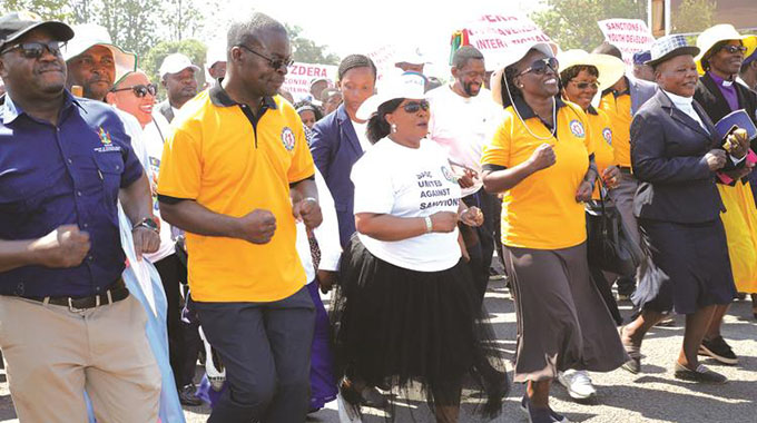 First Lady leads anti-sanctions march