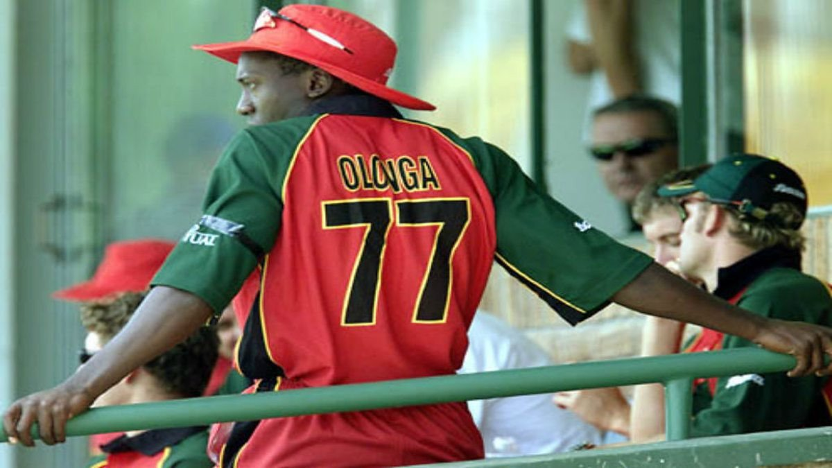 Cricketer Henry Olonga wore a black armband during the 2003 World Cup to protest about the political situation in Zimbabwe under President Robert Mugabe - with devastating effects on his career ©Getty Images