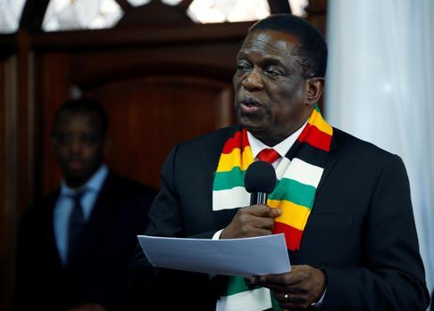 Zimbabwean President Emmerson Mnangagwa. Picture: Reuters/Philimon Bulawayo